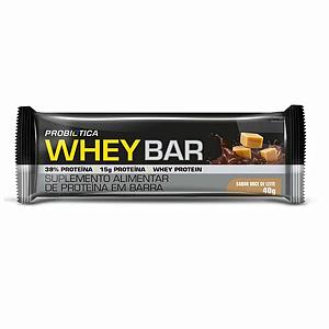 Wheybar frutas doce de leite Probiotica 40g