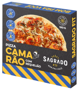 Pizza de camarão com requeijão Sagrado Fit 180g
