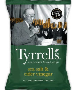Batata frita sal marinho e vinagre Tyrrells 150g