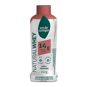 Iogurte natural whey morango 14g Verde Campo 250g