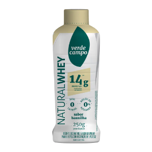 Iogurte natural whey baunilha 14g Verde Campo 250g