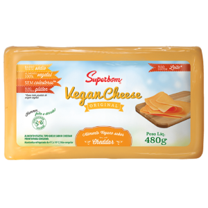 Vegan cheese cheddar Superbom 480g