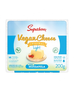 Vegan cheese mussarela light Superbom 200g