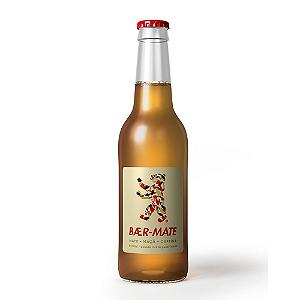 Bebida de mate maçã e cafeina gaseificada Baer-Mate 350ml