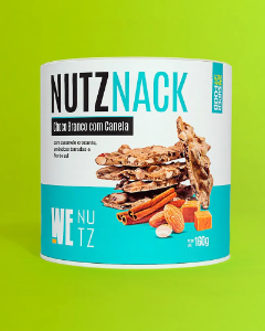 Chocolate nutznack chocolate branco com canela Wenutz 160g