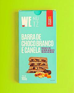 Barra de chocolate branco e canela caramelo salgado de tamara e amendoim Wenutz 100g