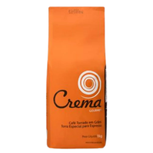 Cafe crema gourmet grãos para espresso Cafe do Mercado 1kg