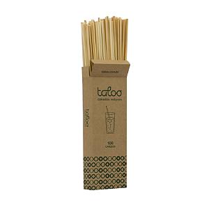 Canudo natural cereal Taloo 100un