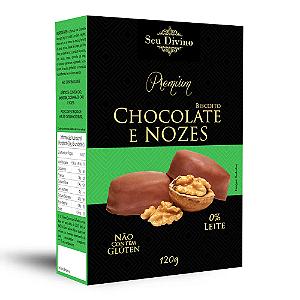 BISCOITO CHOCOLATE E NOZES SEU DIVINO 120G
