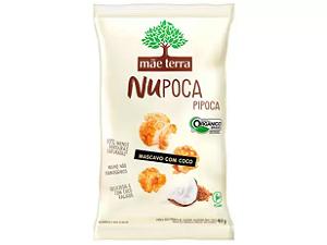 PIPOCA NUPOCA SABOR MASCAVO COM COCO MÃE TERRA 40G