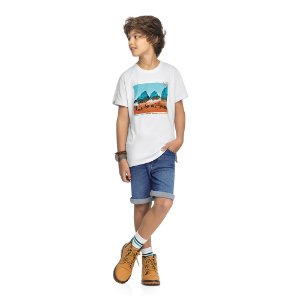 Camiseta Orange and Teal - Branco