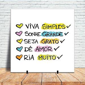Azulejo Decorativo - Viva simples
