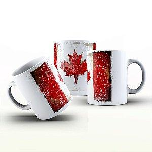 Caneca Personalizada X Tudo - Bandeira do Canadá