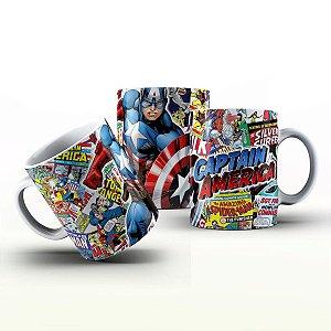 Caneca Personalizada Heróis  - Captain América HQ