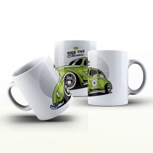 Caneca Personalizada Automóveis  - Fusca verde