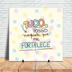 Azulejo Decorativo - Tudo Posso (colorful)