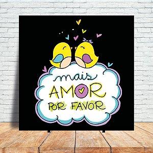Azulejo Decorativo - Mais amor (black)