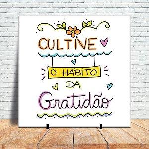 Azulejo Decorativo - Cultive gratidão