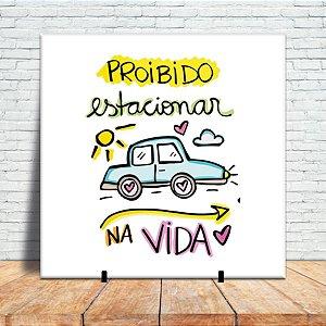 Azulejo Decorativo - Proibido estacionar