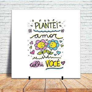 azulejo decorativo - Plantei amor