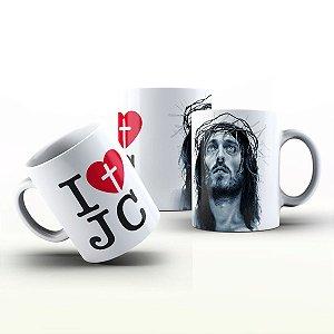 Caneca Personalizada Gospel - Eu amo Jesus
