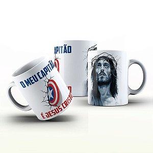 Caneca Personalizada Gospel - Meu capitão