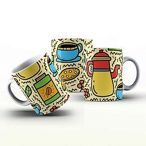Caneca Personalizada Gourmet - Café da manhã