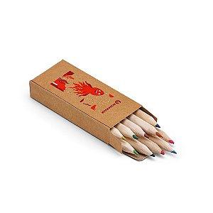CRAFTI. Caixa de cartão com 10 mini lápis de cor Personalizado