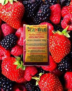 Polpa de Frutas Vermelhas - 5 unidades de 100 gramas.