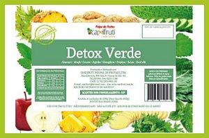 Polpa Detox Verde - 5 unidades de 100 g.