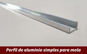Perfil de alumínio simples para mola | 3 metros