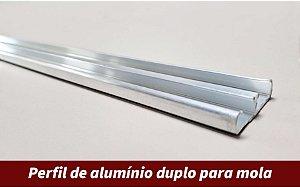 Perfil de alumínio duplo para mola | 3 metros