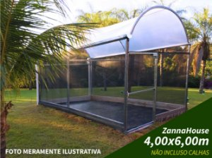 ESTUFA AGRICOLA - ZANNAHOUSE 4,00 X 6,00M