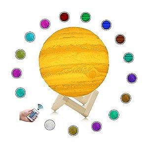 Luminária Planeta Júpiter Sem Personalização 16 CORES