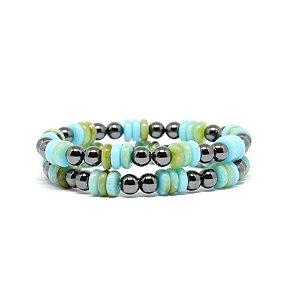 pulseira de hematita azul pulseirismo biju