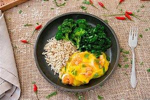 Bobó de camarão com batata-baroa, brócolis e couve (glúten free/ lac free) - 400g