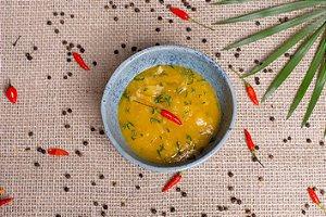 Creme de batata-baroa com alho-poró (glúten free/ lac free/ vegano) - 400g