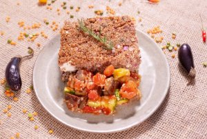 Quibe de forno com cream cheese, quinoa e mix de legumes (low carb) - 400g