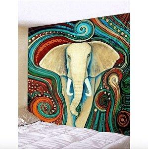 Quadro decorativo moda indiana elefante