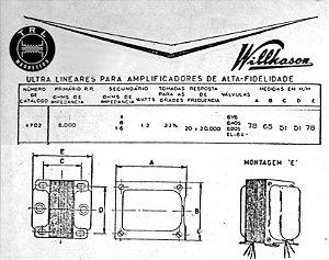 Transformador de Saída baseado no 4702 da Wilkason