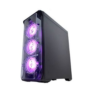 GABINETE K-MEX GAMER CG-03B1 S/ FONTE COM FAN RGB