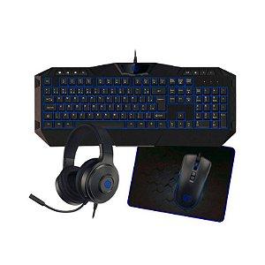 Kit Gamer Hoopson Mouse + Teclado + HeadSet + MousePad - TPC-067