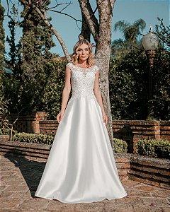 Vestido de Noiva Branco Longo