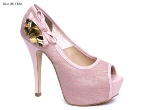 Sapato Renda Rose