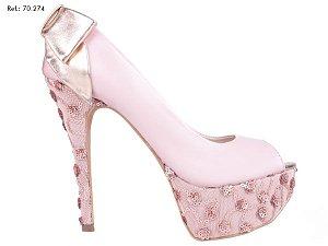 Sapato Meia Pata Rosa