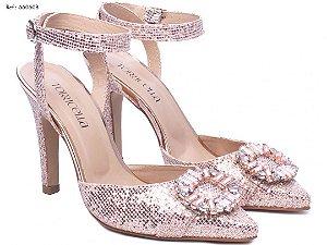Sapato Scarpin Rose Glitter