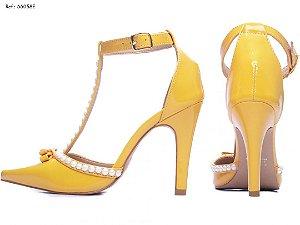 Sapato Perolas Amarelo