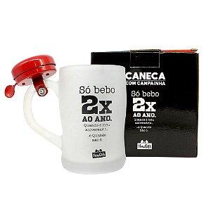 CANECA C/CAMPAINHA 400ML SÓ BEBBO 2 VEZES