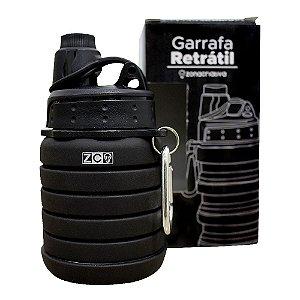 GARRAFA RETRATIL 500ML PRETO