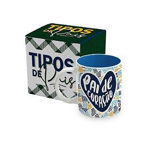 CANECA BICOLOR - TIPOS DE PAIS - PAI DE CORAÇÃO